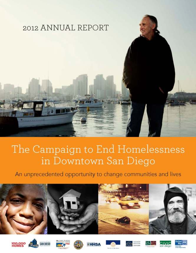 Cover Image of 2012 Annual Report _ Campaign to End Homelessness in Downtown San Diego (2)